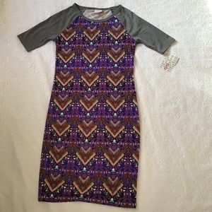 Lularoe purple and grey Julia dress